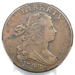 1798 S-175 R-2 Pcgs Vf 35 Draped Bust Large Cent Coin 1c