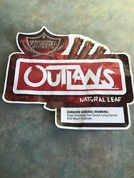 """Swisher Sweets Outlaws Large Window Decal Sign Advertising 19"""" X 21"""" Cigar"""