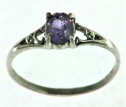 Purple Sapphire Sterling Silver Lady,s Ring Rss,825