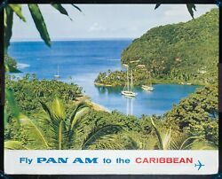 Large Orig 35 X 44 Pan Am Airlines Poster 1960s Caribbean/west Indies P-28e