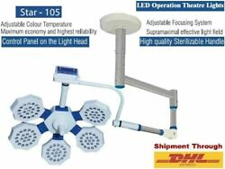 Led Star 105 Surgical Operation Theater Light Led Lamp 180000lux Stainless Steel