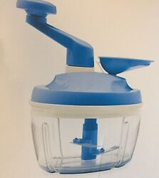 Sale Tupperware - Quick Chef Pro System - Power Mix - Emulsify - Chop - New Blue