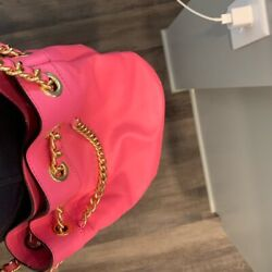 Moschino Hot pink bag with gold chain $400.00