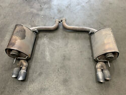 2011 Jaguar Xfr 5.0l Supercharged Mufflers Exhaust Set Left And Right Oem