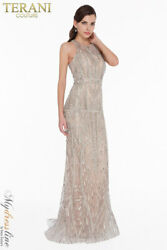 Terani Couture 1822gl7508 Evening Dress Lowest Price Guarantee New Authentic