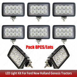 Led Work Lights Kit For Ford New Holland 8670,8670a,8770,8770a,8870,8870a,8970++