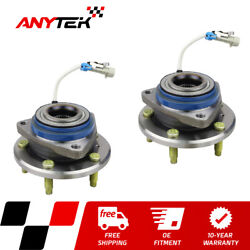 Pair Front Wheel Hub Bearing W/abs For Chevy Buick Pontiac Cadillac 2wd Vehicles