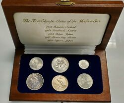 The First 6 Olympic Coins Of The Modern Era Silver Finland Austria Japan Mx