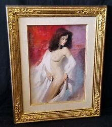 1980s Us Oil Painting Standing Female Nude By Howard Rogers B.1932wir