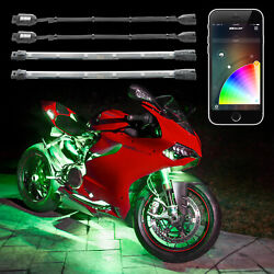 8pc Led Motorcycle Accent Light Kit Xkchrome Bluetooth Smartphone App Controlled