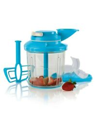 Tupperware Power Chef System In Blue For Chopping, Whipping, And More - New In Box