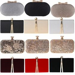 Wedding Handbags Bridesmaids Bridal Bags Womens Evening Clutches Party Tea Purse $19.49