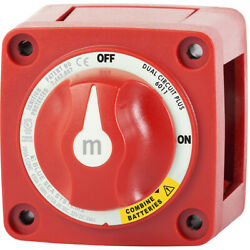 Blue Sea Systems 6011 M-series Battery Switch On/off Dual Circuit Plus