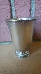 18th Century French Paris France Sterling Silver Regence Beaker Cup 189 Grams