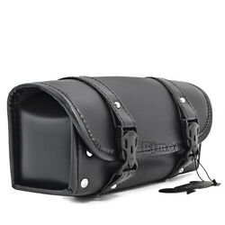 Motorcycle Saddlebag Luggage Tool Roll Barrel Bags Storage Pouch For Harley Bike $23.99