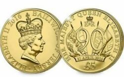 Celebrate Her Majesty 90th Birthday Andpound5 Coin