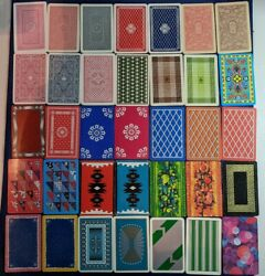 Old Playing Card Collection Deco Antique 1920-1950 Pattern England Us Vtg Lot F
