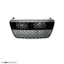 Fit For 07-12 R8 Gen1 42 Car Grill Grille Gloss Black/silver Euro Hex Style