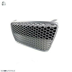 Fit For 07-12 R8 Gen1 Car Grill Grille Front Euro Hex Style ['gunmetal/silver]