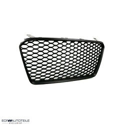 Fit For 14-15 R8 Gen1 42 Car Open Vented Grill Grille Euro Style['matte Black]
