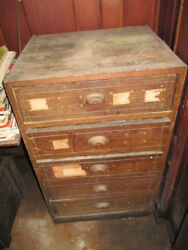 Antique Collectible Shop 5 Drawer Case Skilton's Sticker Complete Very Nice