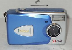 Vupoint Solutions 3.1mp Digital Camera - Silver And Blue 4x Digital Zoom