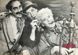 The Marx Brothers Smoking A Hookah Vintage 90andrsquos German Import Poster 24 X 34