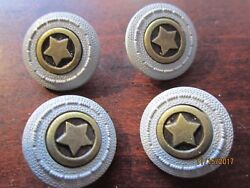 Estate Lot 4 Sheriff Marshall Star Antique Vintage Collectible 3/4 Buttons