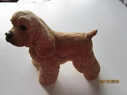 Cocker Spaniel Hand Painted Collectible Dog Figurine sandicast Blond Color USA