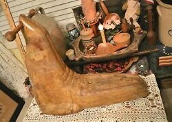 Best Hand Carved Aafa Carousel Look Child's Ride-on Scooter Seal Wood Peg Chisel