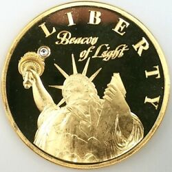 Liberty Beacon Of Light Token From The American Mint Swarovsky Crystal 40 Mm