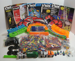 Huge Micro K'nex Roller Coaster Lot Track Connectors Chain Cars Motors And More