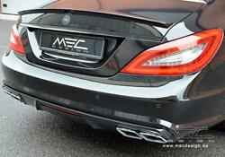 Mercedes Benz C218 / X218 Cls Rear Diffuser With Amg Tailpipes