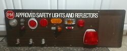 Vintage Garage Pm Approved Safety Lights And Reflectors Retail Display48 Sign..