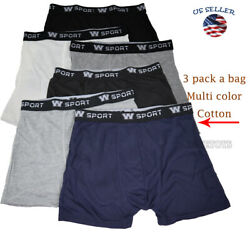 3 Pack Men#x27;s Cotton Underwear TAGless Boxer Briefs with Comfort Flex Waistband