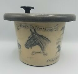Vintage Paul Brown Here's To The Horse Resin Ice Bucket C1951