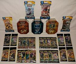 Joelton, Flareon And Vaporeon Tins 37 Booster Pack Lot - All New Factory Sealed