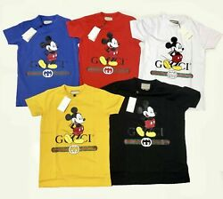Gucci Shirt Brand New Mens Micky Mouse Tee Free Shipping $45.01