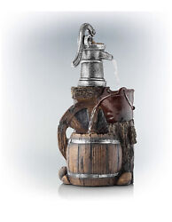Outdoor Water Fountain 3-tier Old-fashioned Pump Barrel A