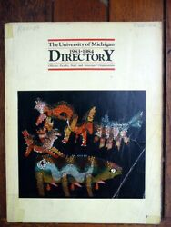 University Of Michigan 1983-84 Faculty And Staff Directory Genealogy