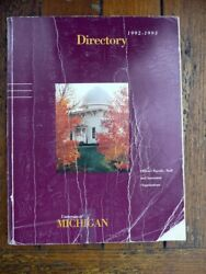 University Of Michigan 1992-93 Faculty And Staff Directory Genealogy