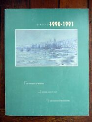 University Of Michigan 1990-91 Faculty And Staff Directory Genealogy