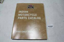 2003 Indian Chief Parts Manual Catalog Book Wheel Front End Tank Gauges Eps23559