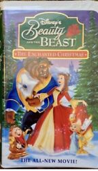 Beauty And The Beast The Enchanted Christmas Vhs, 1997 Like New