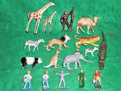 Lot 17 1940s Crescent Toy Hollow-cast Lead Zoo Animals And Farm Figures 2 Rare