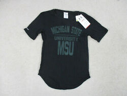 New Under Armour Michigan State Spartans Shirt Womens Extra Small Black Ladies