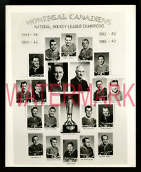 1946-47 Montreal Canadiens Original Team Photo Maurice Richard Stanley Cup Final