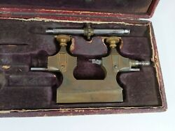 Antique Tour A Pivoter Watchmakers Bench Jacot Tool Lathe Vintage Makers Tool