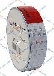 Conspicuity Tape Dot-c2 Reflective Truck Trailer Safety Red White 1/2/3 Wide