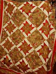 Machine Made Quilt Top 83 X 66 New . Farmhouse Country Windmill Design